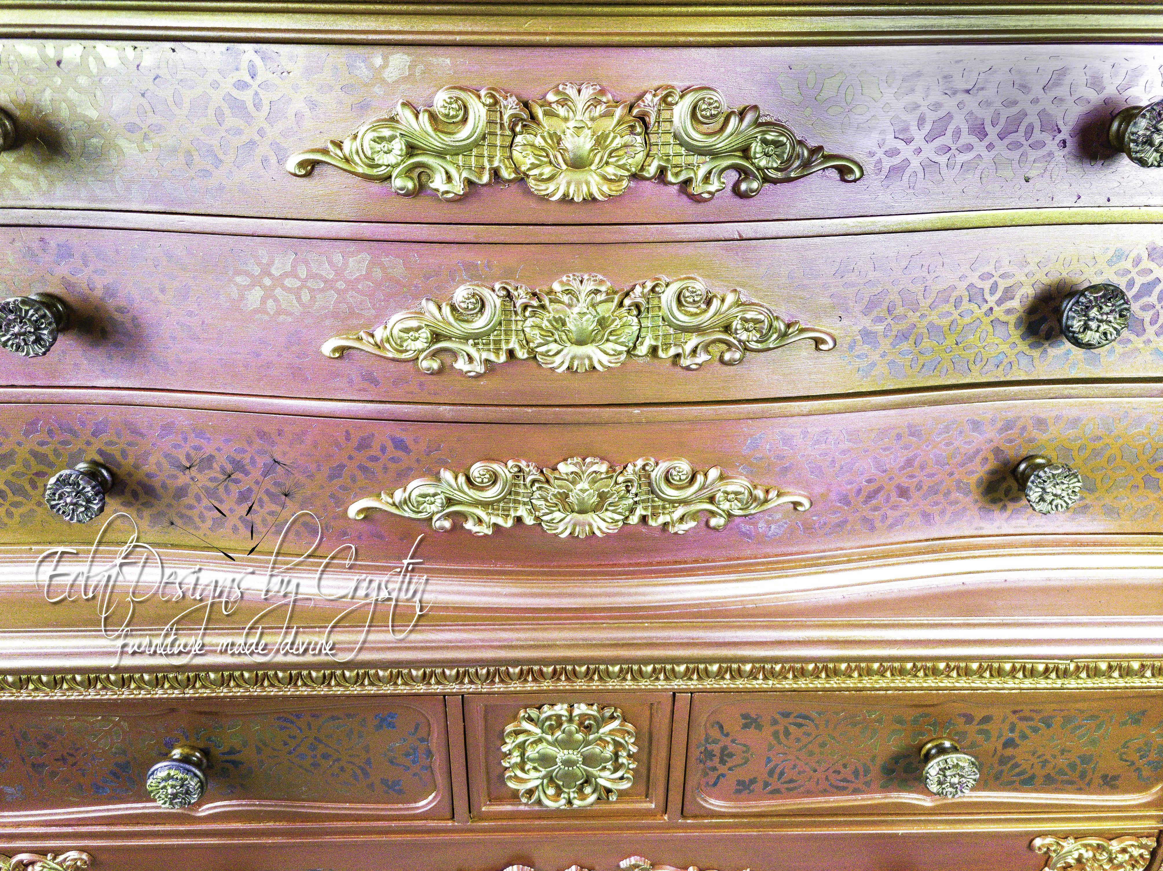 Metallic Moroccan Dresser